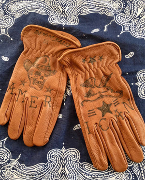 Custom Riding Gloves | AMERICAN | Denim Bales