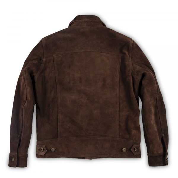 Terracotta Brown Suede Jacket | Shangri-La Heritage