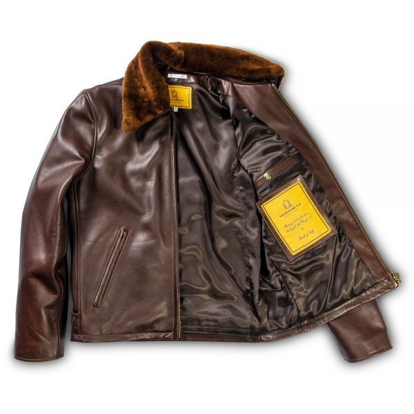 Varenne Fur Collar Brown Leather Jacket | Shangri-La Heritage