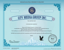 Load image into Gallery viewer, Stock Certificate