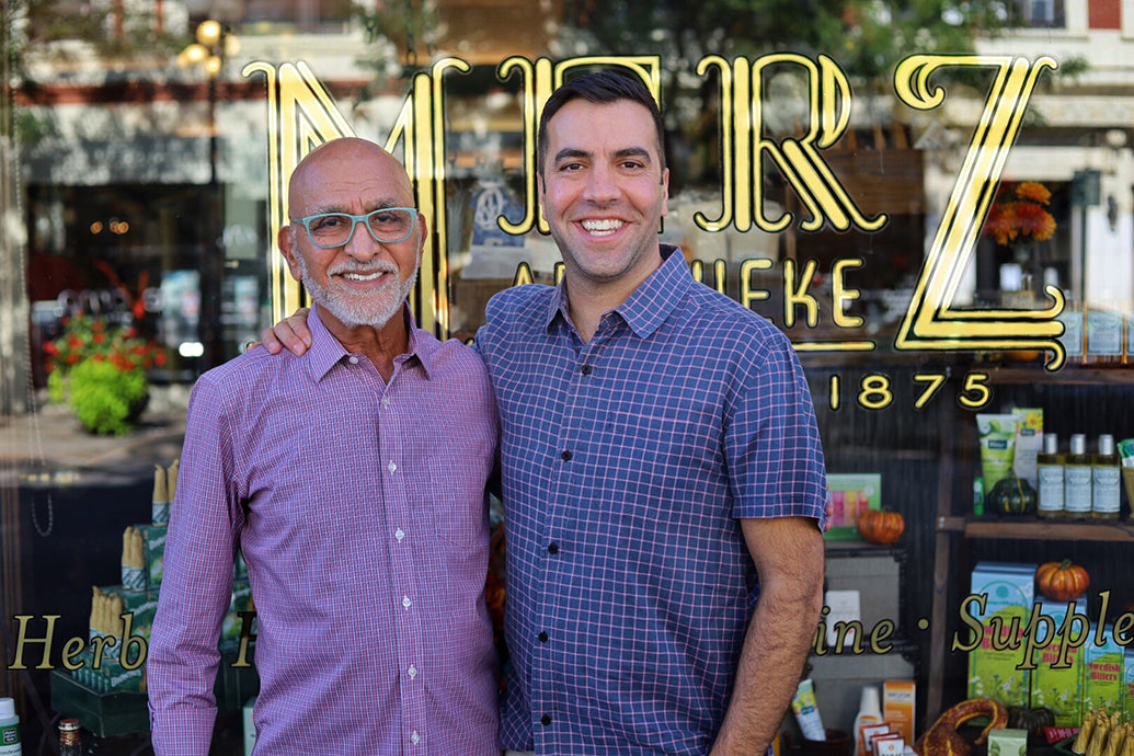 Merz Apothecary with President Anthony Qaiyum
