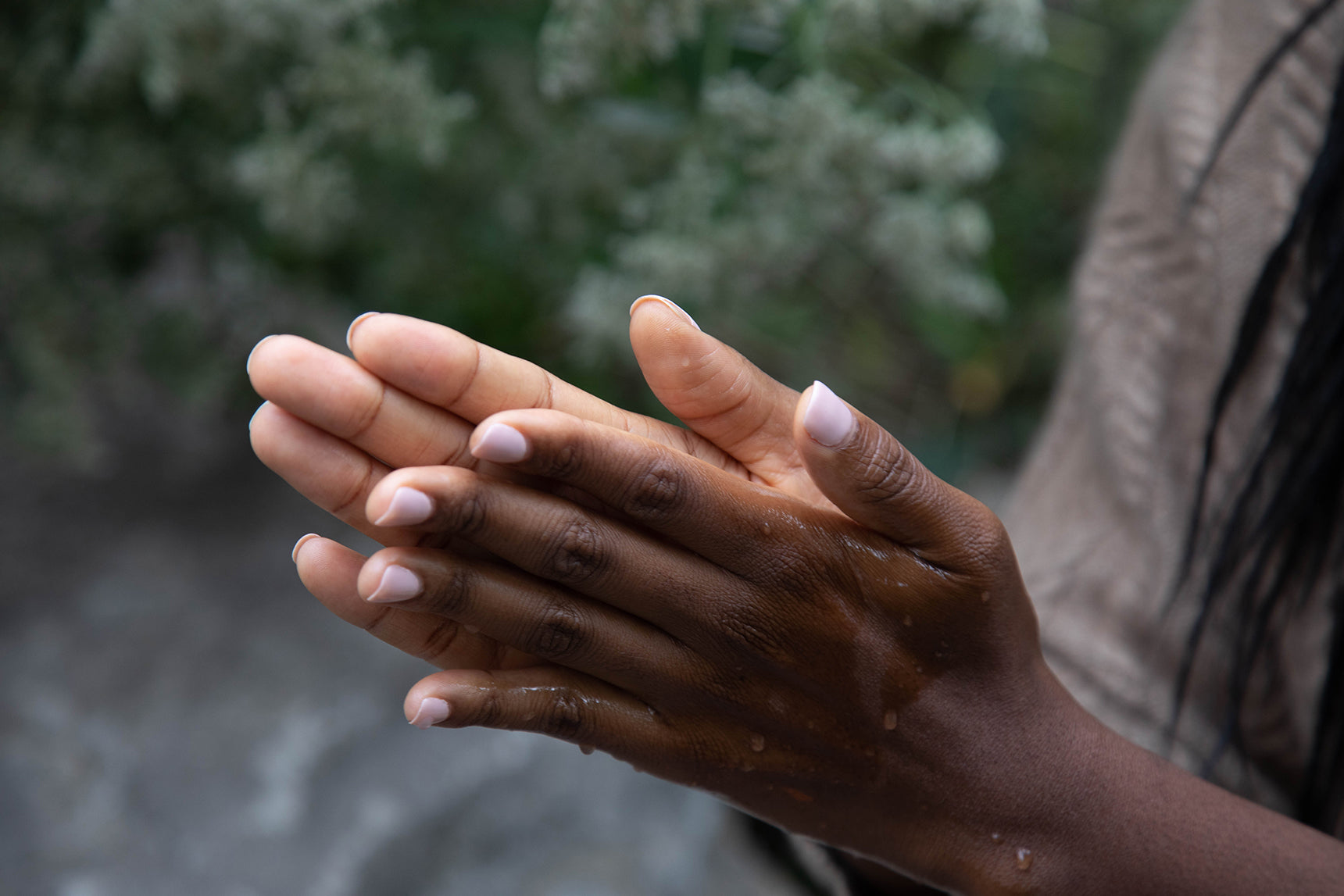 Oil and Water on hand