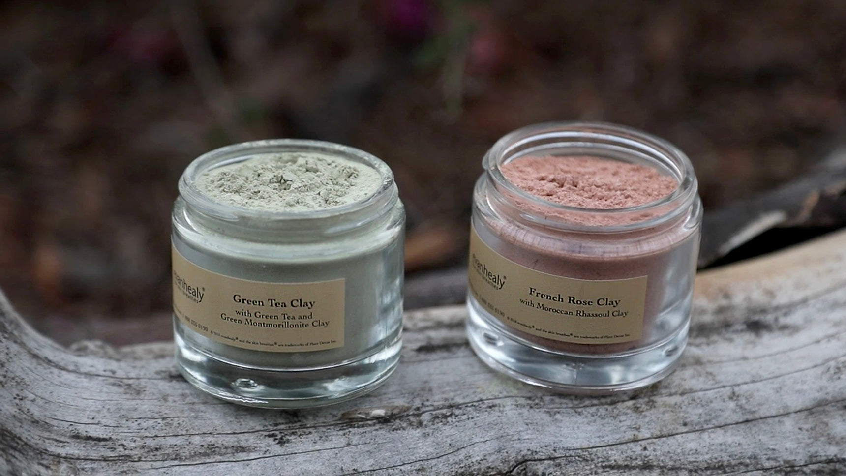 Green Tea Clay and French Rose Clay