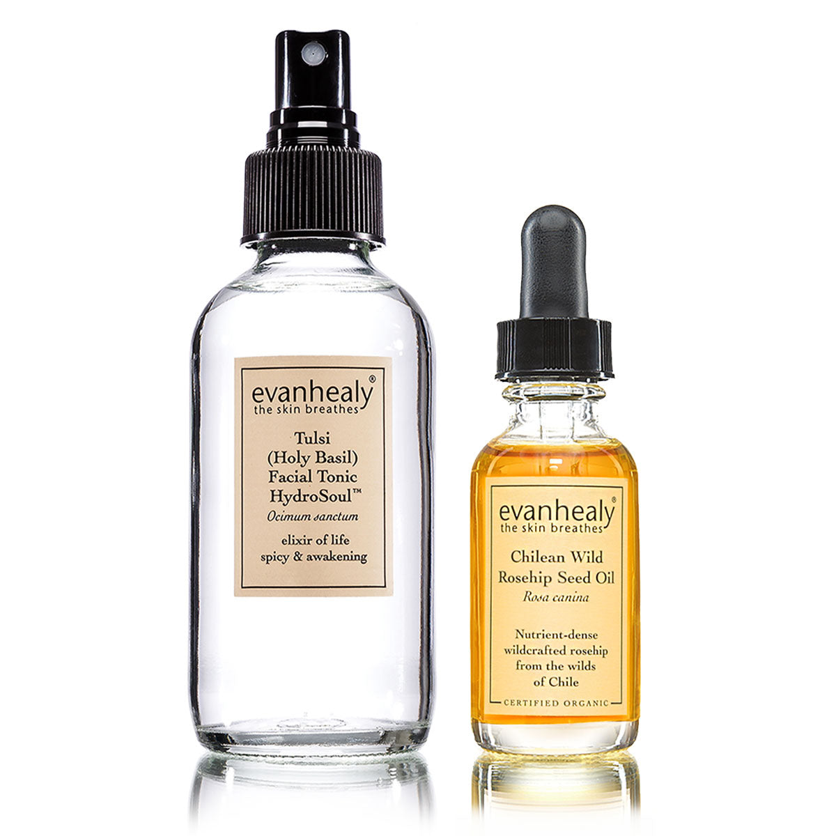 evanhealy Tulsi (Holy Basil) Facial Tonic HydroSoul and Chilean Wild Rosehip Seed Oil