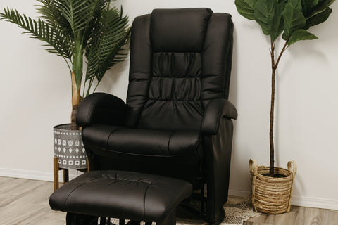 Madison Swivel Rocker Glider with Ottoman