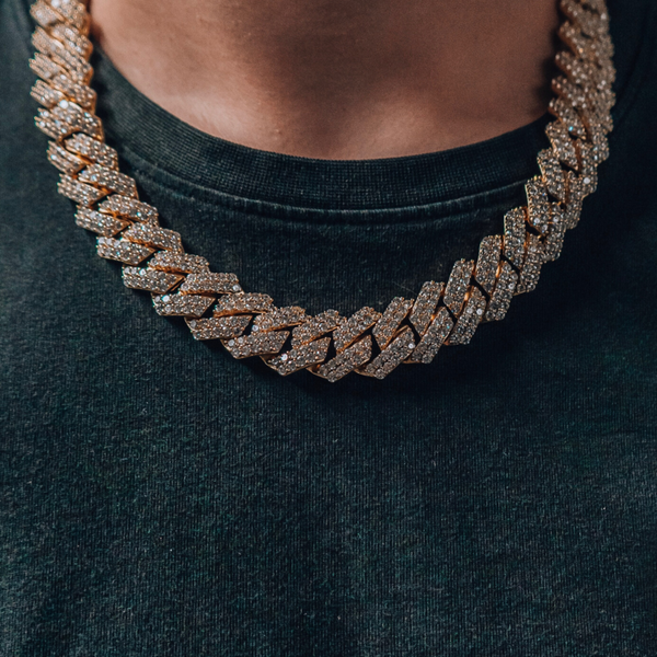 17mm Iced Out Cuban Chain