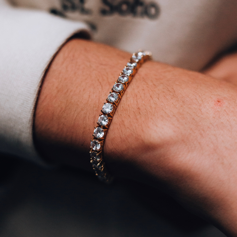 5mm Single Row Iced Out Tennis Bracelet