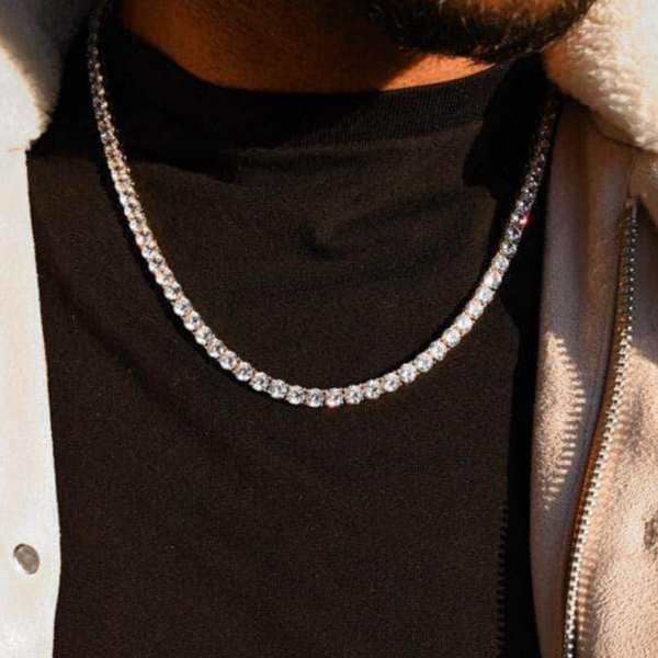 5mm Single Row Iced Out Tennis Chain