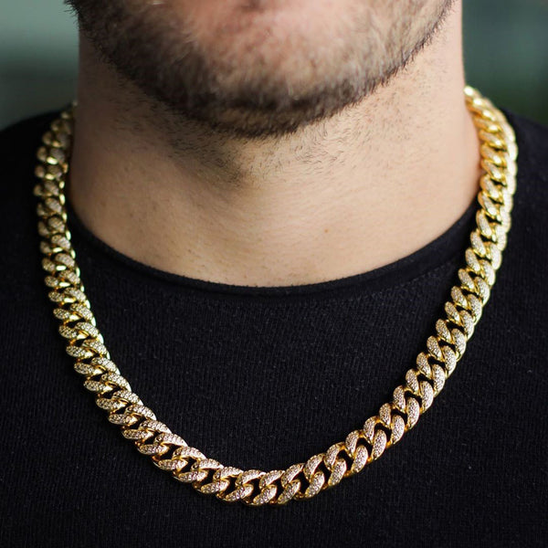 12mm Iced Out Cuban Chain