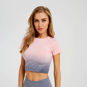 Ombre Short Sleeved Top