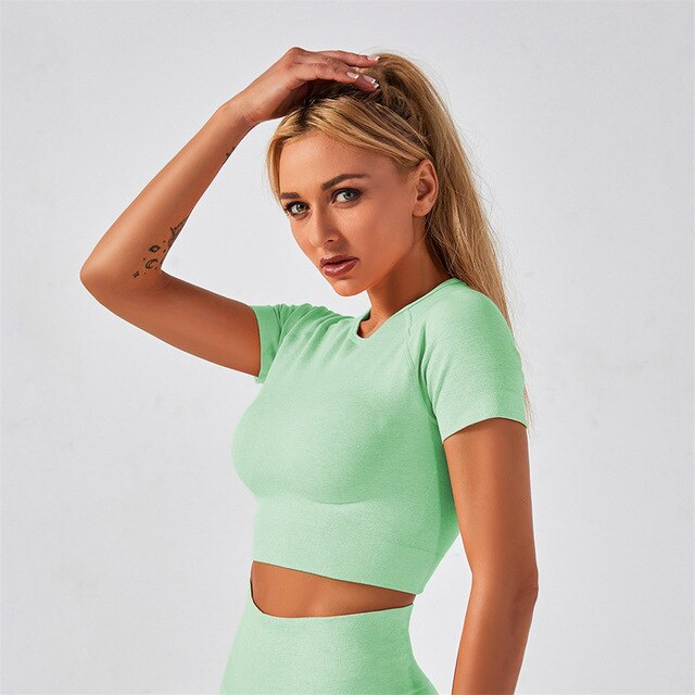 Seamless Short Sleeved Top