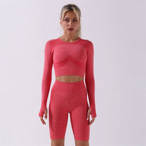 Empowering Long Sleeved Seamless Set