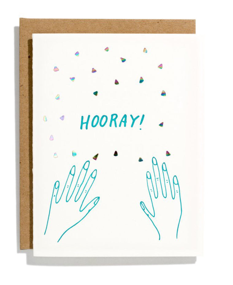 Iron Curtain- Confetti Hands Card