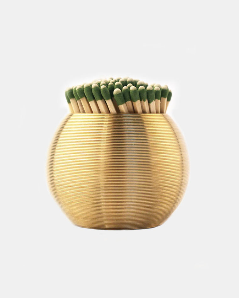 JFM - Brass Sphere Striped Match Scratcher