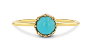 Grace Lee Crown Bezel Turquoise Ring