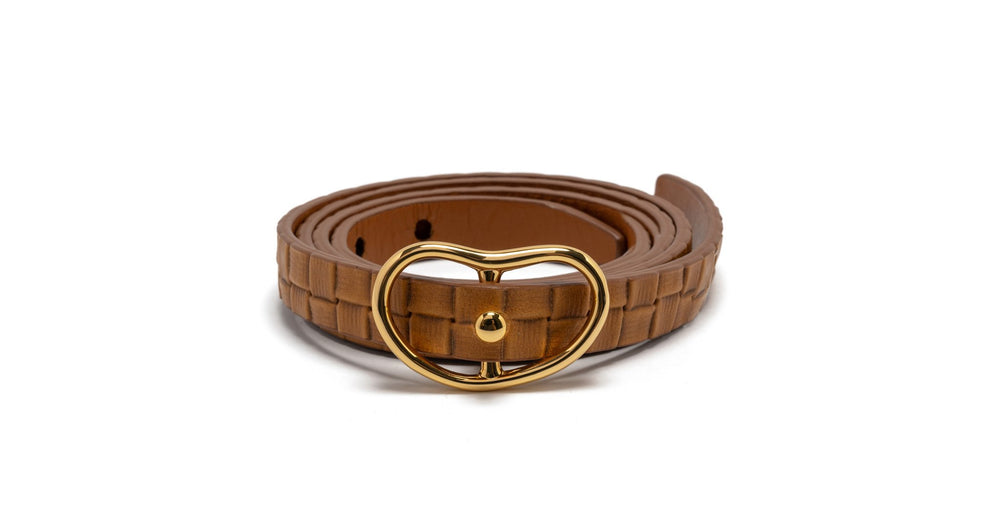 Lizzie Fortunato Skinny Georgia Belt - Wicker