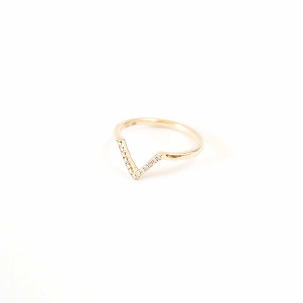 Boudov Chevron Pavé Diamond Ring