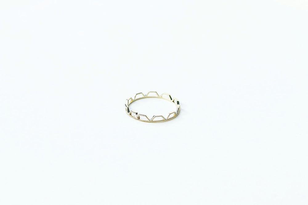 Grace Lee Beaded Trapezoid Eternity Ring