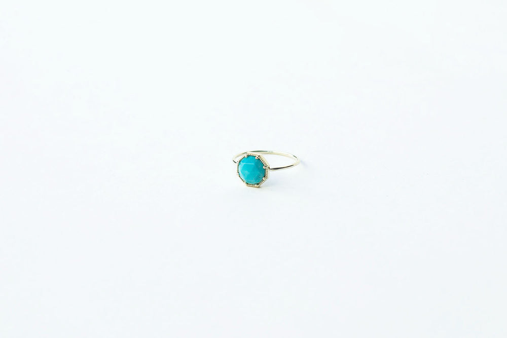Grace Lee Maman Crown Bezel Turquoise Ring