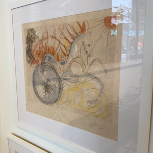 "Load image into Gallery viewer, Salvador Dali lithograph ""Elijah and the Chariot"""