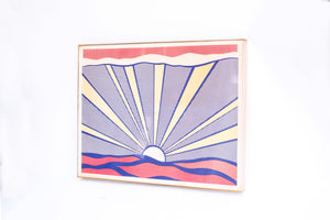 "Roy Lichtenstein ""Sunrise"" original print"