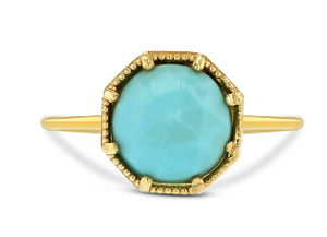Load image into Gallery viewer, Grace Lee Maman Crown Bezel Turquoise Ring