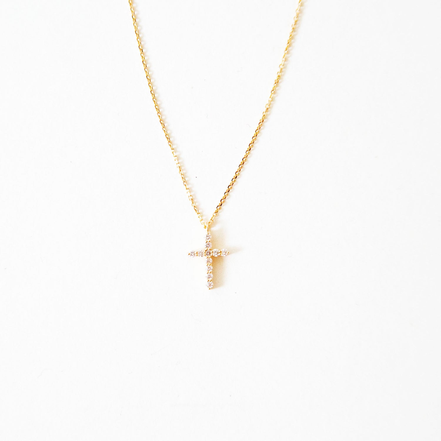 Vendome Diamond Cross Necklace