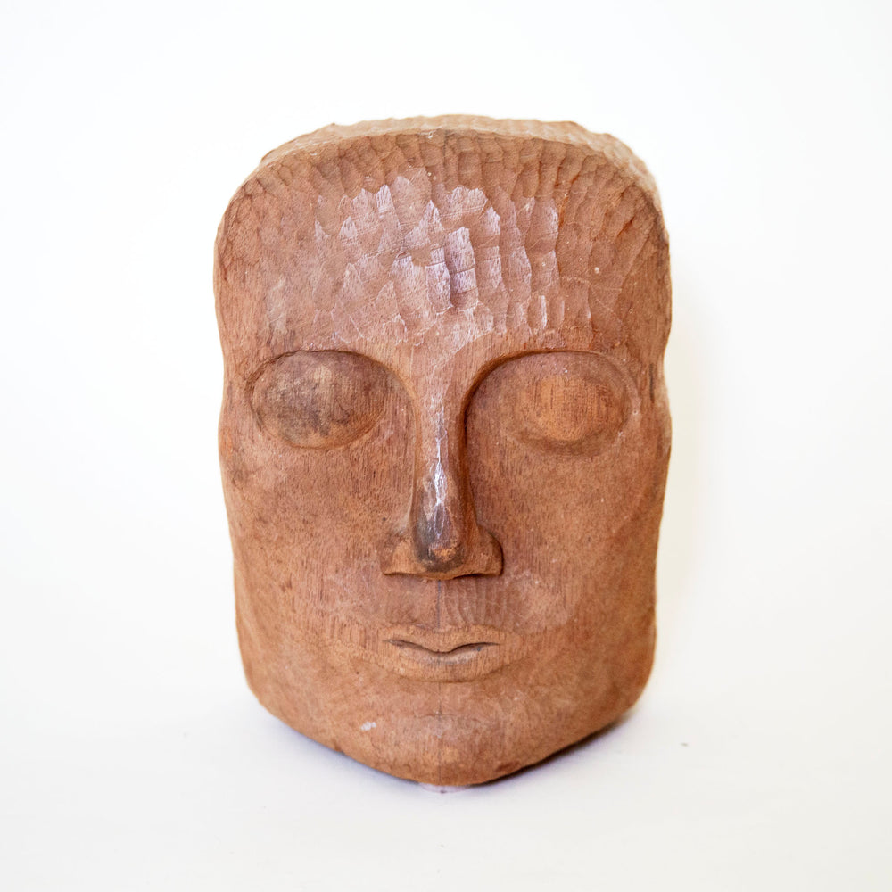 Vintage Face Sculpture
