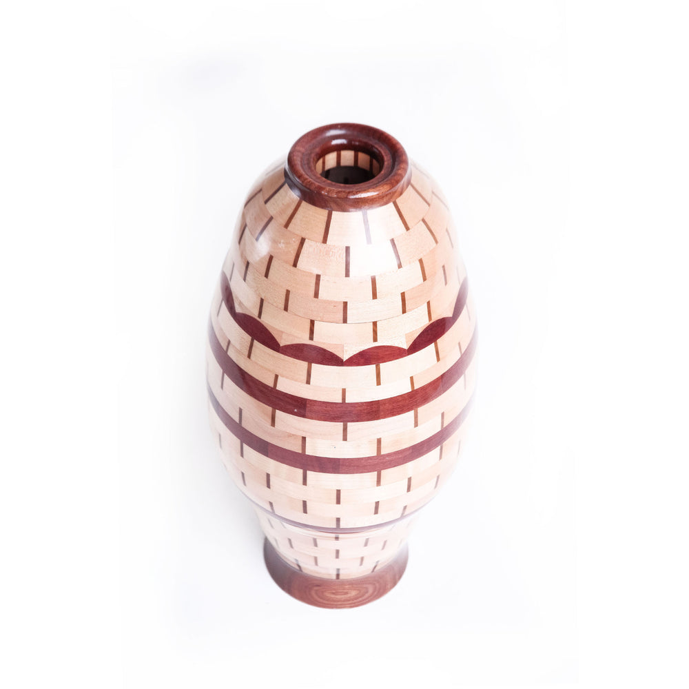 Load image into Gallery viewer, Vintage Allen Pousson Wood Vase