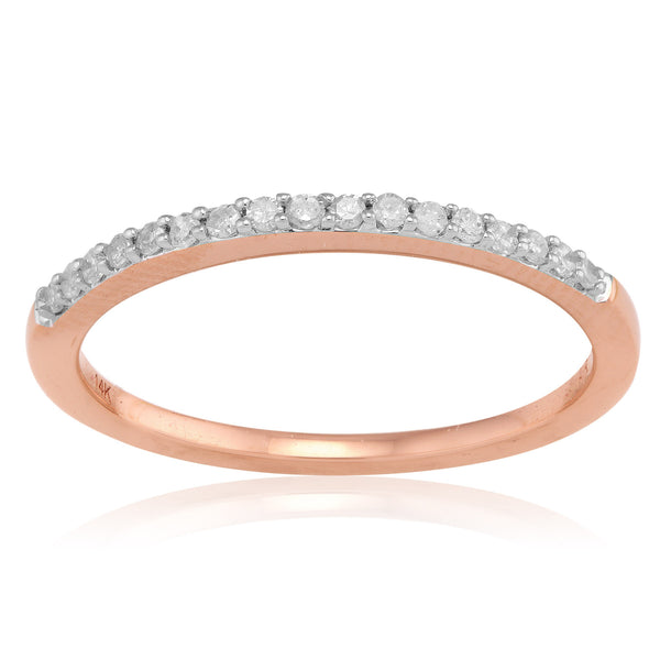 Adina Reyter Pave Band Ring - Rose Gold