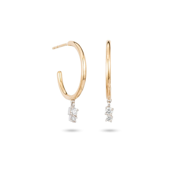 Adina Reyter 2 Diamond Charm Hoops