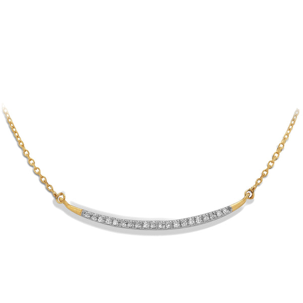 Adina Reyter Large Pave Curve Bar- Yellow Gold