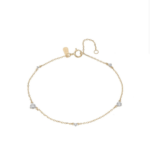 Adina Reyter 5 Diamond Amigos Bracelet - Yellow Gold