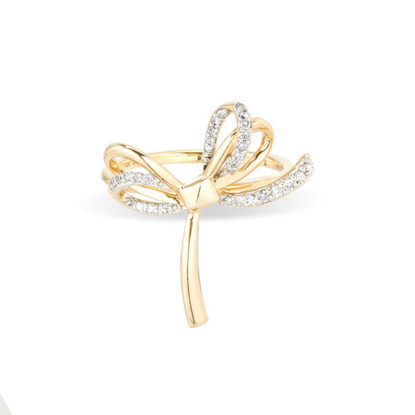 Adina Reyter Open Large Pavé Bow Ring