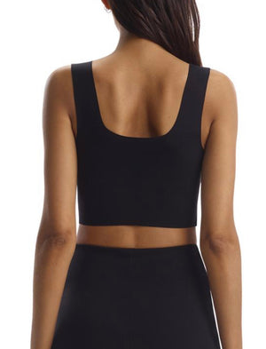 Commando Neoprene Square Neck Crop Top
