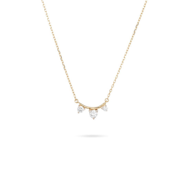 Adina Reyter 3 Diamond Amigo Curve Necklace