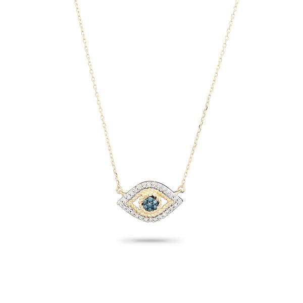 Adina Reyter Tiny Pave Evil Eye Necklace