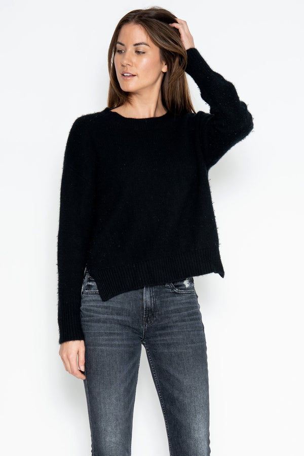 One Grey Day Lyle Cashmere Pullover - Black