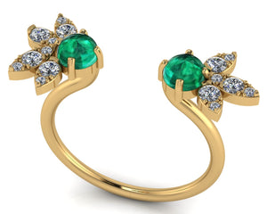Adina Reyter Open Emerald & Diamond Ring