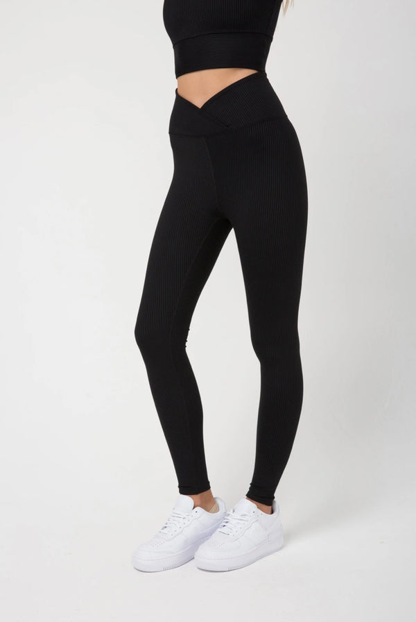 Year of Ours Rib Veronica Legging - Black