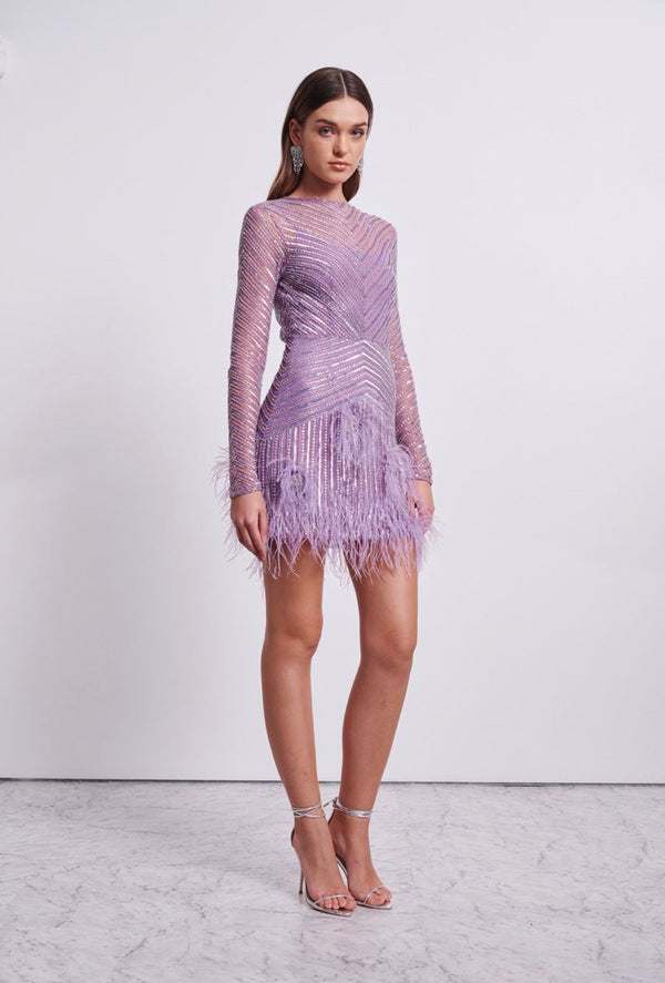 Rachel Gilbert Petunia Long Sleeve Dress - Lilac