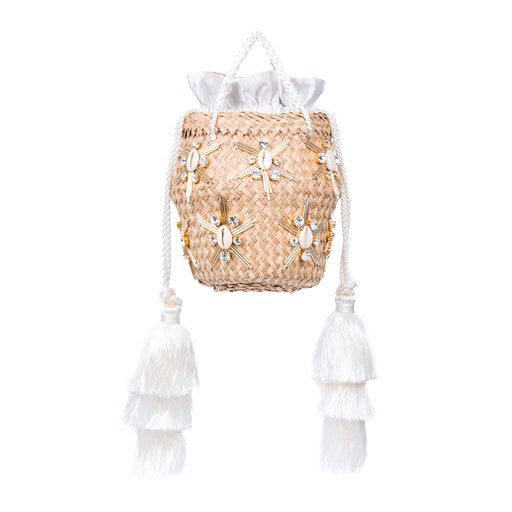 Le Nine Carol Starshells Cream Small Bag