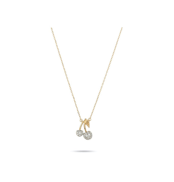 Adina Reyter Fresh Fruit Pavé Cherry Necklace