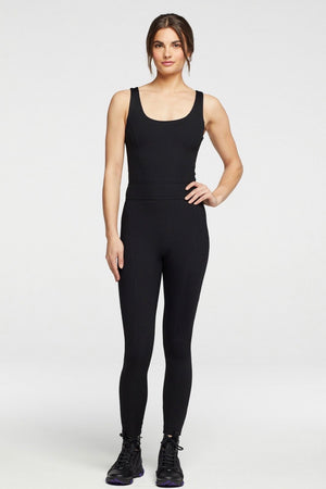 Year of Ours Reformer Rib Onesie - Black
