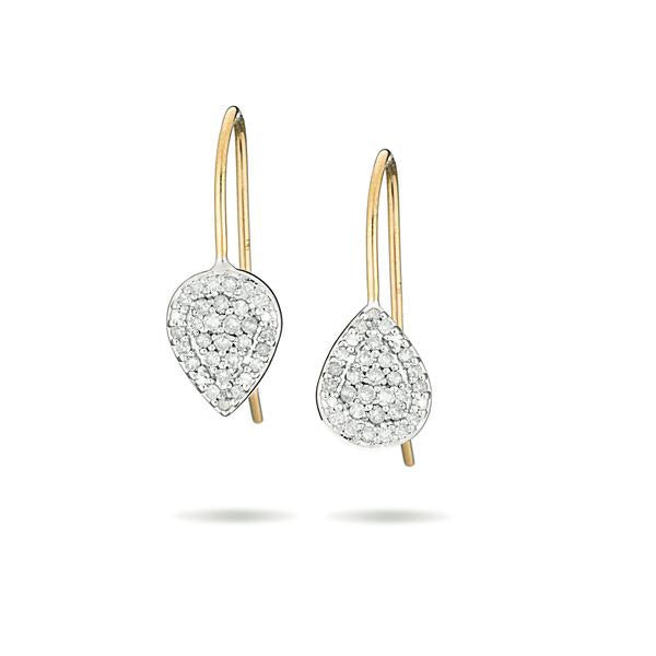 Adina Reyter Solid Pave Teardrop Earrings