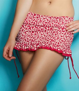 Freya Charleston Skirted Adjustable Swim Brief, Red