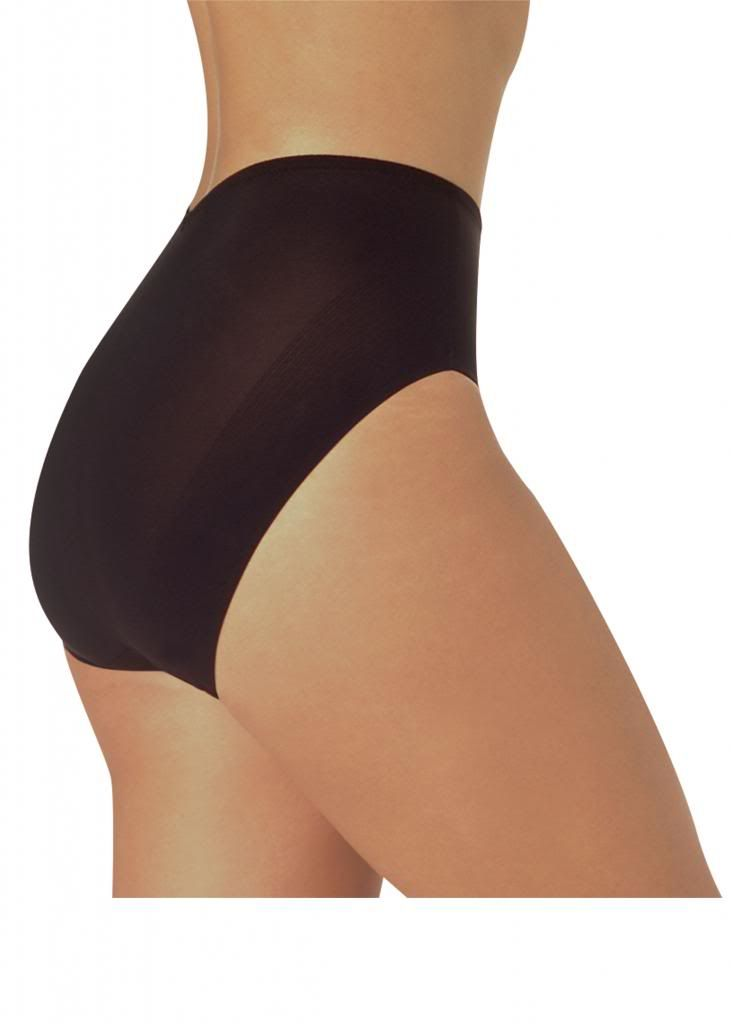 Naomi and Nicole Hi Cut Panties, Black
