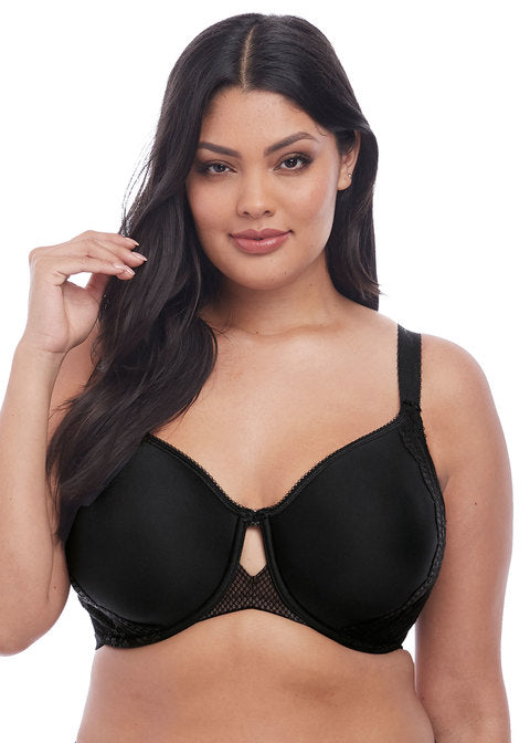 Elomi Charley Underwire Bandless Spacer Molded Bra, Black