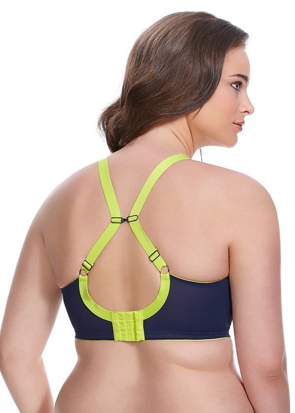 Elomi Energise Underwire Sports Bra With J Hook, Navy