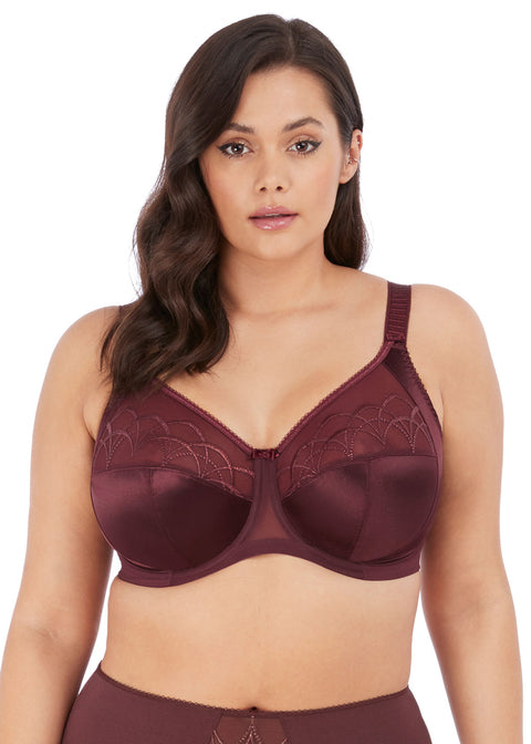 Elomi Cate Raisin Underwire Full Cup Banded Bra, Raisin